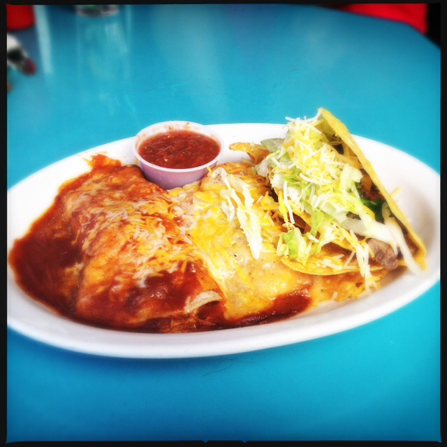 The A La Carte plate offers 1,111 options. We went relleno, relleno, taco. Photo by Vanessa Wolf