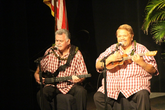 Sheldon Brown & Damien Paiva provided music prior to the Mayor's State of the County Address. Photo by Wendy Osher.