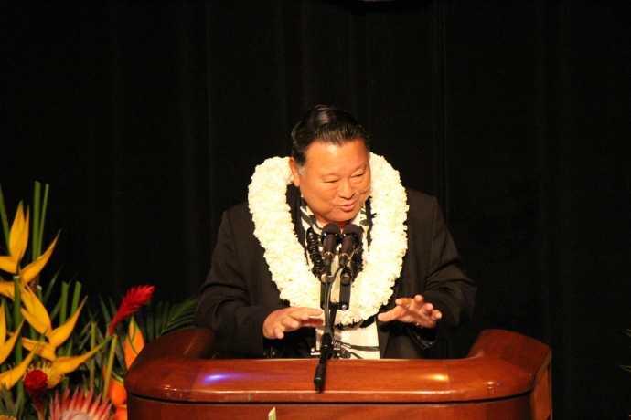 Maui Mayor Alan Arakawa.  Photo by Wendy Osher.