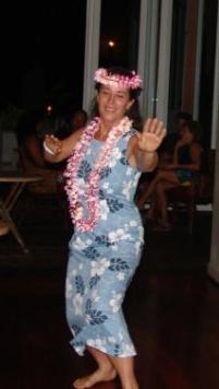 Judy Kinser dances hula.  Photo credit: Haleakalā National Park.