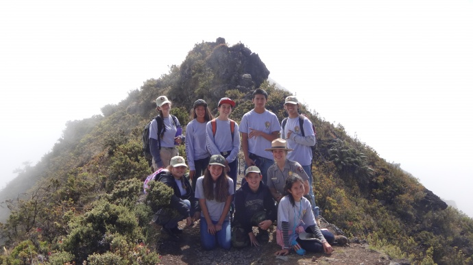 MS interns with Ranger Katelyn Thomson. Photo courtesy Haleakalā National Park.