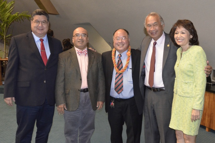 Nishimoto confirmation. Photo courtesy Hawaiʻi State Senate.