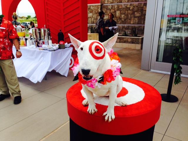 Bullseye, the officials mascot of Target Corporation. Photo Debra Lordan.