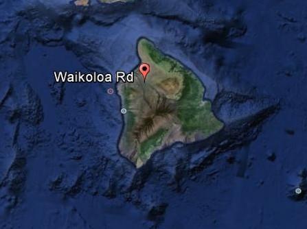 Waikoloa Road, Hawaiʻi Island, Google Earth image.