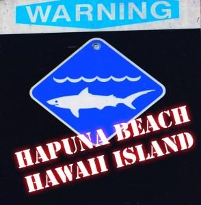 Shark attack, Hāpuna Beach, Hawaiʻi Island. Graphics by Wendy Osher.