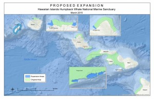 Overview map of sanctuary's current and proposed sanctuary boundaries. Credit: NOAA