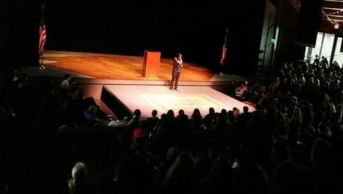 Talk story session with Seabury Hall Student Body & Faculty.  Photo courtesy Rep. Tulsi Gabbard.