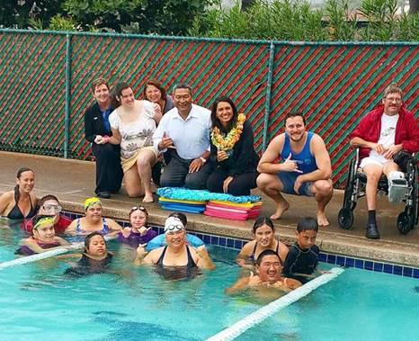 Meet and Greet with the Maui Dolphins Swim Team. Photo courtesy Rep. Tulsi Gabbard.