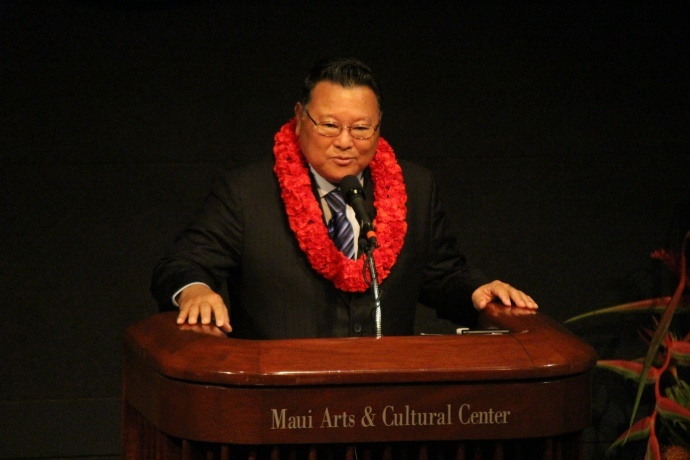 Maui Mayor Alan Arakawa, State of the County Address. File photo 2014 by Wendy Osher.