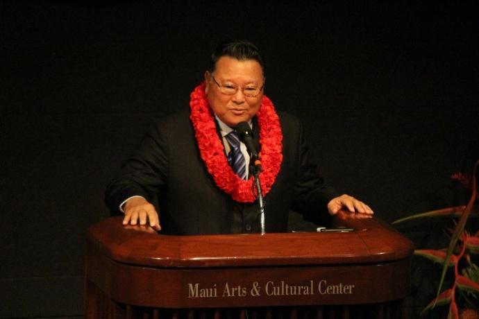 Maui Mayor Alan Arakawa, State of the County Address. File photo 2014 by Wendy Osher.