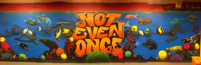 """The first ever """"Not Even Once"""" Mural Project (NEOMP) installation at the Lahaina location of the Boys & Girls Clubs of Maui was given a fresh coat of paint that included a few new creative additions and enhancements to commemorate the one-year anniversary of its original completion."""