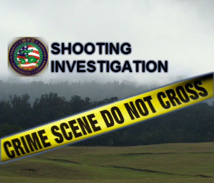 Shooting Investigation at Piʻiholo. Maui Now graphic.