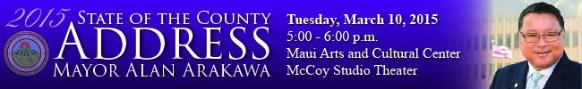 State of the County 2015. Image courtesy County of Maui.