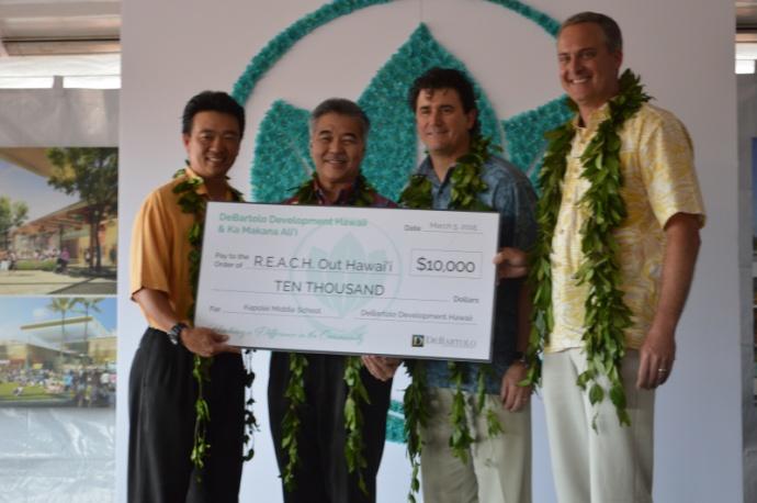 R.E.A.C.H Garners Community Partnerships. Photo courtesy Lt. Governor Shan Tsutsui.