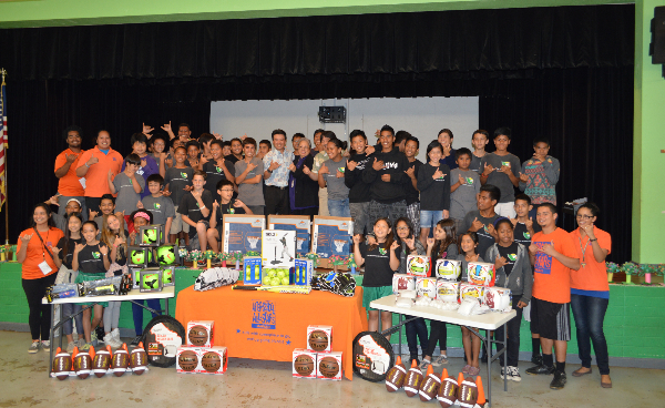 Schools Receive Equipment for After-School Programs. Photo courtesy Lt. Governor Shan Tsutsui.