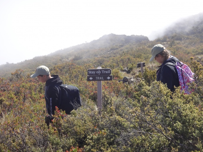 Wilderness hike. Photo courtesy Haleakalā National Park.