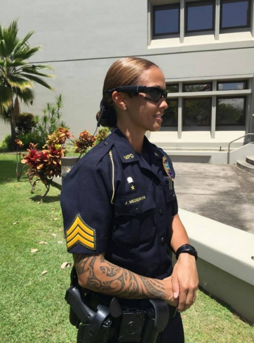 Maui Police body-worn cameras being utilized as part of the one-month pilot program.  Photo courtesy Maui Police.