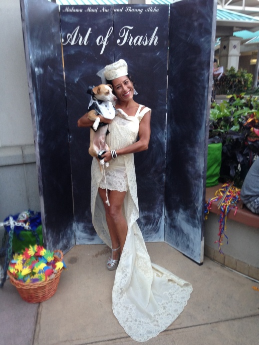 First Place Trashion Show design by Laurie Furumoto was modeled by Oriana Kalama. Courtesy photo.