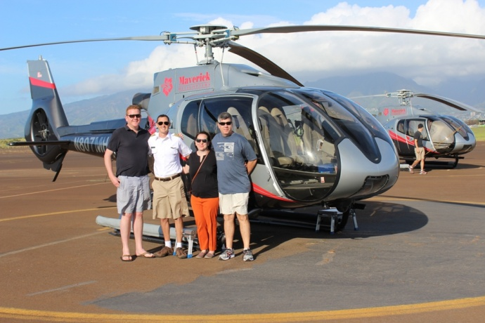 Maverick Helicopters' First Maui Flight, April 10, 2015. Courtesy photo.