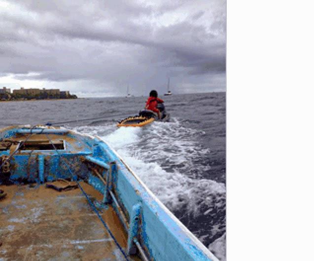 Boat retrieved from shoreline fronting the Aston Mahana Resort. Photo by DLNR.