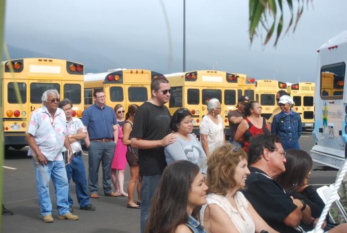Blessing of new MEO Transportation Facility.  Photo courtesy Maui Economic Opportunity.