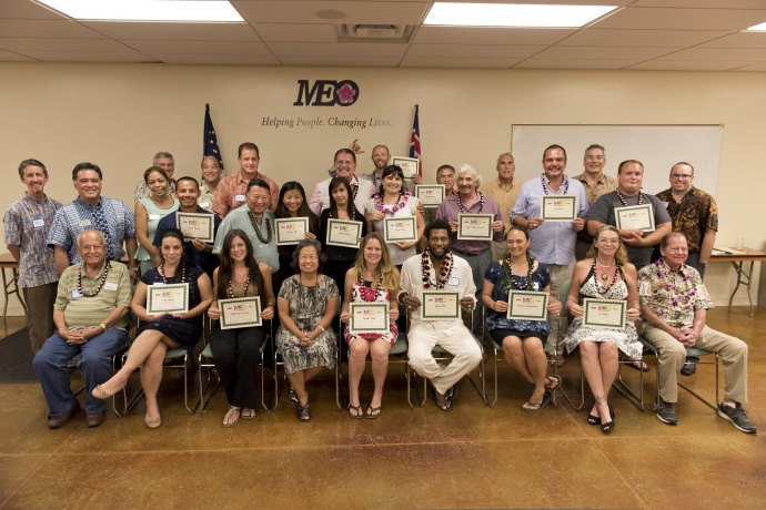Eighteen students graduated from Maui Economic Opportunity's Core Four Business Planning course on April 21, 2015.