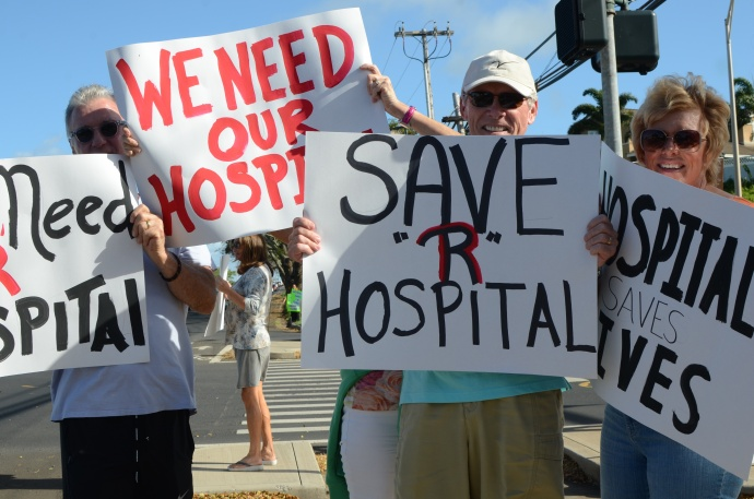 Maui hospital rally, 4/28/15. Photo by Ashley Takitani Leahey.