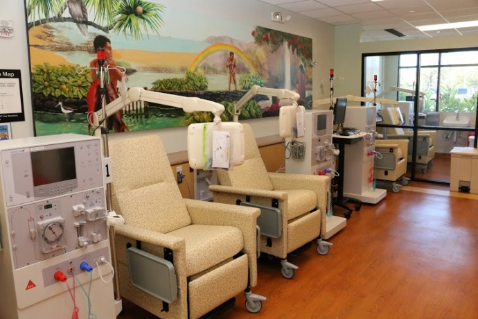 Interior of Lahaina Rainbow Dialysis Center. Courtesy photo.