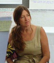 Helen Nielsen during a discussion on the reWailuku initiative in 2013. File photo by Wendy Osher.