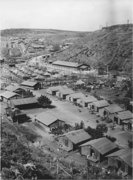 No.3380 Honouliuli Internment Camp overview.R. H. Lodge photos from AR 19 Archival Collection. Photo credit: Japanese Cultural Center of Hawai'i – Resource Center – Historical Photographs collection.