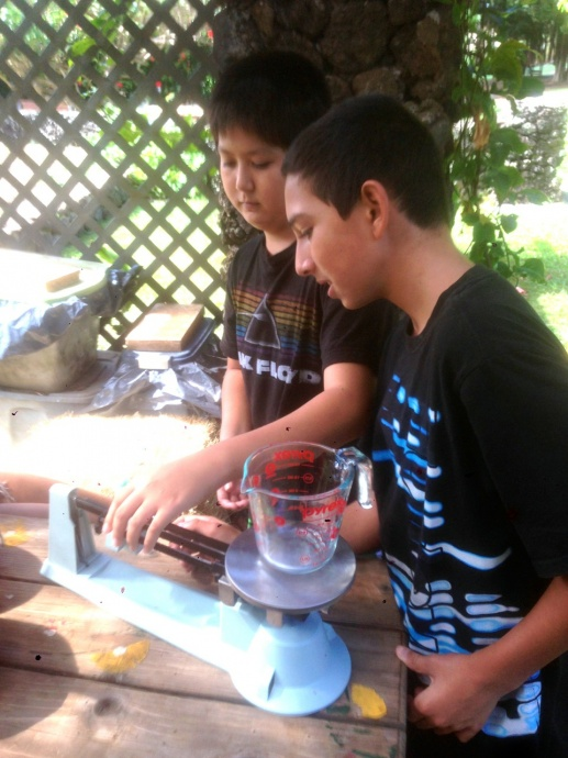 6th Grade students Taiger Ogasawara and Duke Kapua