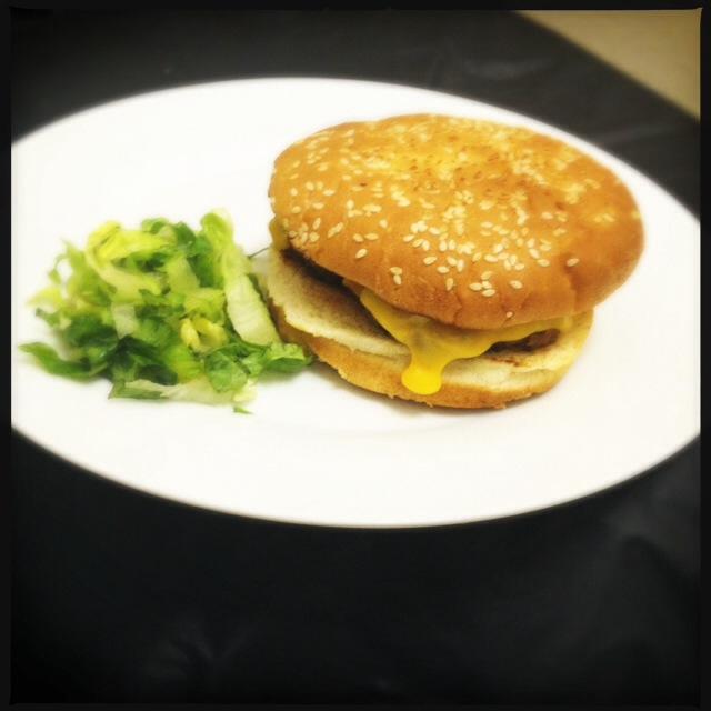 The cheeseburger made us sad. Photo by Vanessa Wolf