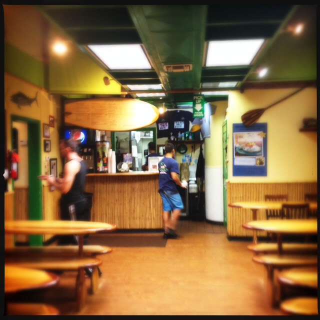 The interior of the restaurant during  a rare lull in the frenzy. Photo by Vanessa Wolf