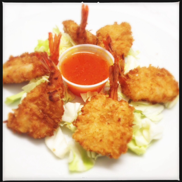 The Coconut Shrimp are suh-weeet. Photo by Vanessa Wolf