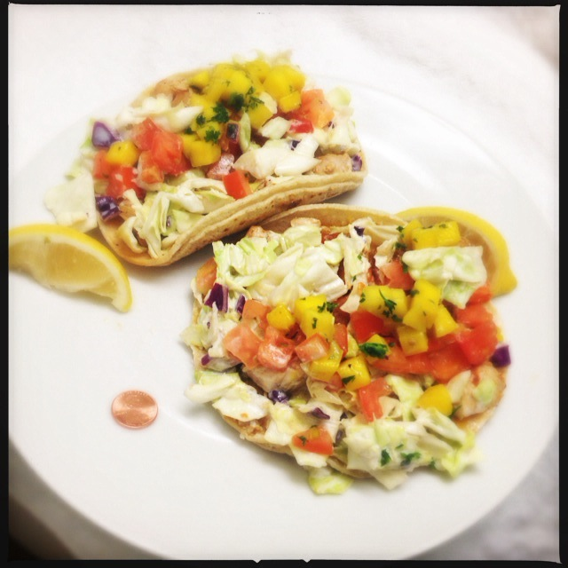 The Fish Tacos boast a veritable laundry list of ingredients. Photo by Vanessa Wolf