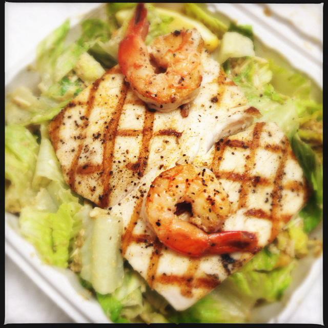 The Grilled Mahi Mahi Salad. Photo by Vanessa Wolf