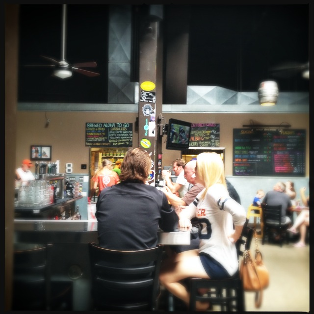 Customers at the bar in the Kahana location. Photo by Vanessa Wolf