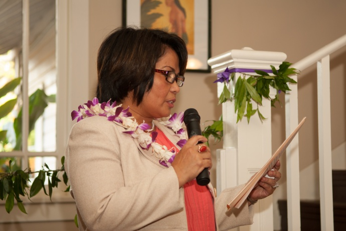 Women Helping Women renovated shelter dedication and blessing, March 31, 2015. Photo by Lisa Villiarimo.