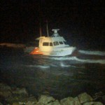 50 Foot Fishing Vessel Runs Aground Off Koki Beach