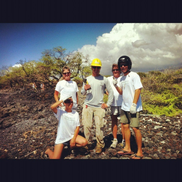 Margo - 2nd from right - marine debris removal