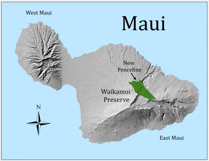 New Waikamoi Fence Map.