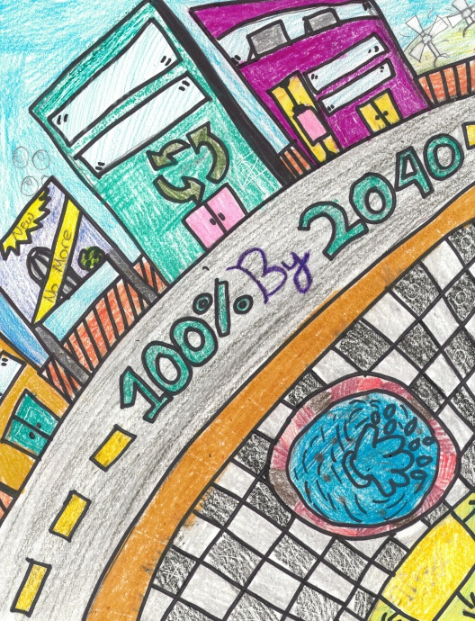 Artwork submitted to Blue Planet by a student at Wheeler Middle School on Oʻahu. Courtesy image.