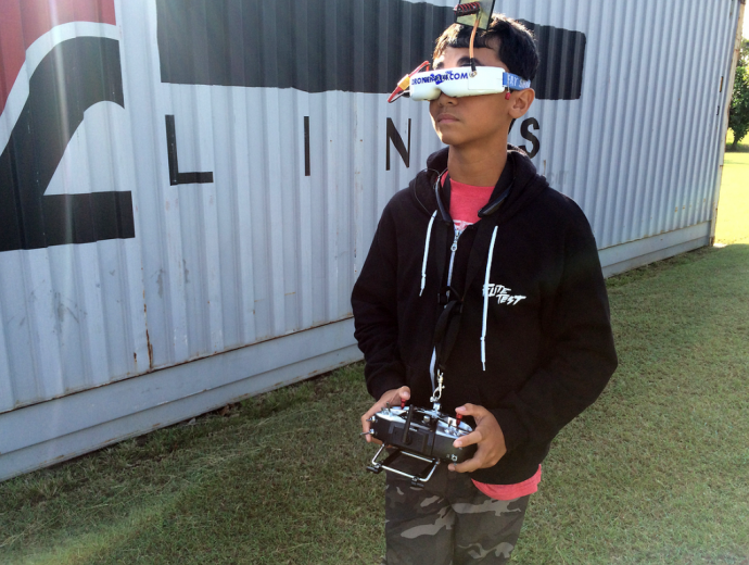 Ian Forbes, a Maui High School freshman who captured the story's aerial shots with a drone. Photo courtesy PBS Hawaiʻi.