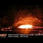 VIDEO: Explosion at Kīlauea Volcano's Halemaʻumaʻu Lava Lake