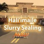 Slurry Seal Pavement Preservation Begins in Hāliʻimaile