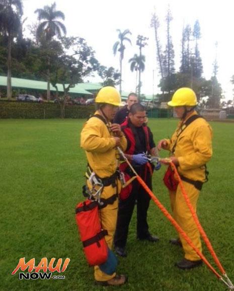 Hāna rescue, 4/2/15. Photo courtesy Maui Police Department.