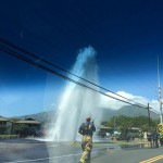 Kahului Hydrant Ruptures, Struck by Vehicle