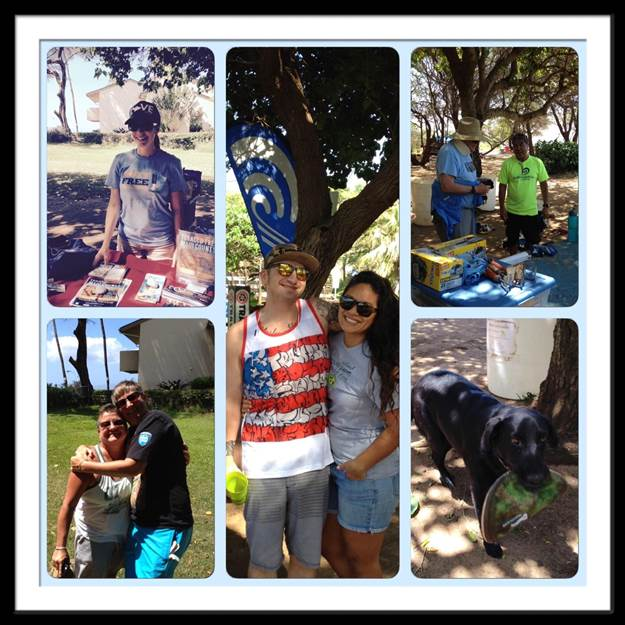 Volunteers at the Haycraft Beach Park at Māʻalaea clean up this past Saturday.  Photo courtesy: Sonya Niess, MPH Maui County Coordinator, Coalition for a Tobacco Free Hawaii