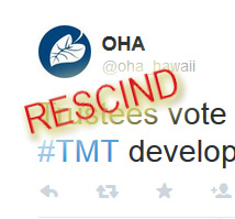OHA twitter message announcing the vote.