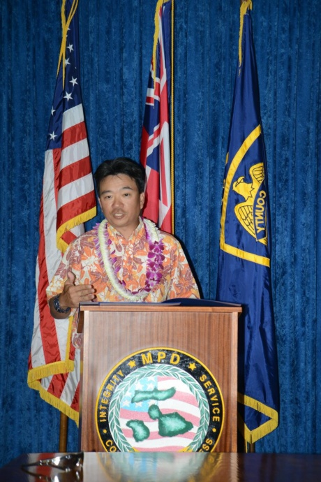Lieutenant Governor Shan Tsutsui. Photo courtesy Maui Police Department.